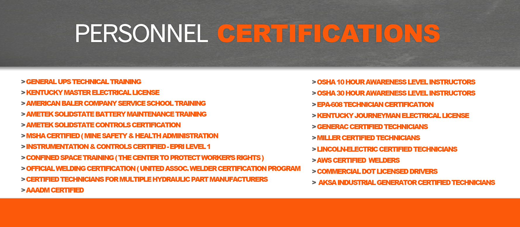 G C Multiservices Certifications
